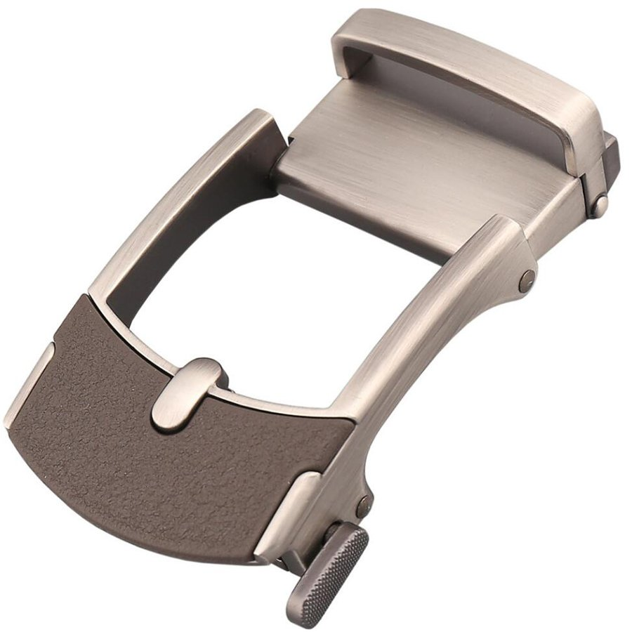 Belt Buckle , Alloy Agio Fashion Automatic Buckle Suitable For 3.3-3.6cm Men's Solid Buckle Automatic Ratchet Leather Belt