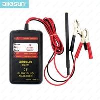 Automotive Glow Plug Analyser Car Engine Tester LED Display Auto Glow Failure Diagnostic Tool 12V Vehicle System All Sun EM271