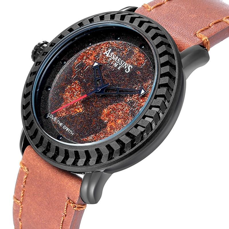 Assassin's Time Fashion Style Fashion Men Mapa Cuarzo Reloj Deportivo - Relojes para hombres - foto 1