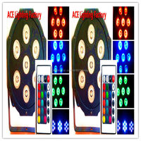 2pcs Lot Free Fast Shipping Wireless Remote Control LED Par 7x12W RGBW 4IN1 LED Wash Light