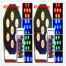 2pcs/lot Free&Fast shipping Wireless remote control LED Par 7x12W RGBW 4IN1 LED Wash Light Stage Uplighting