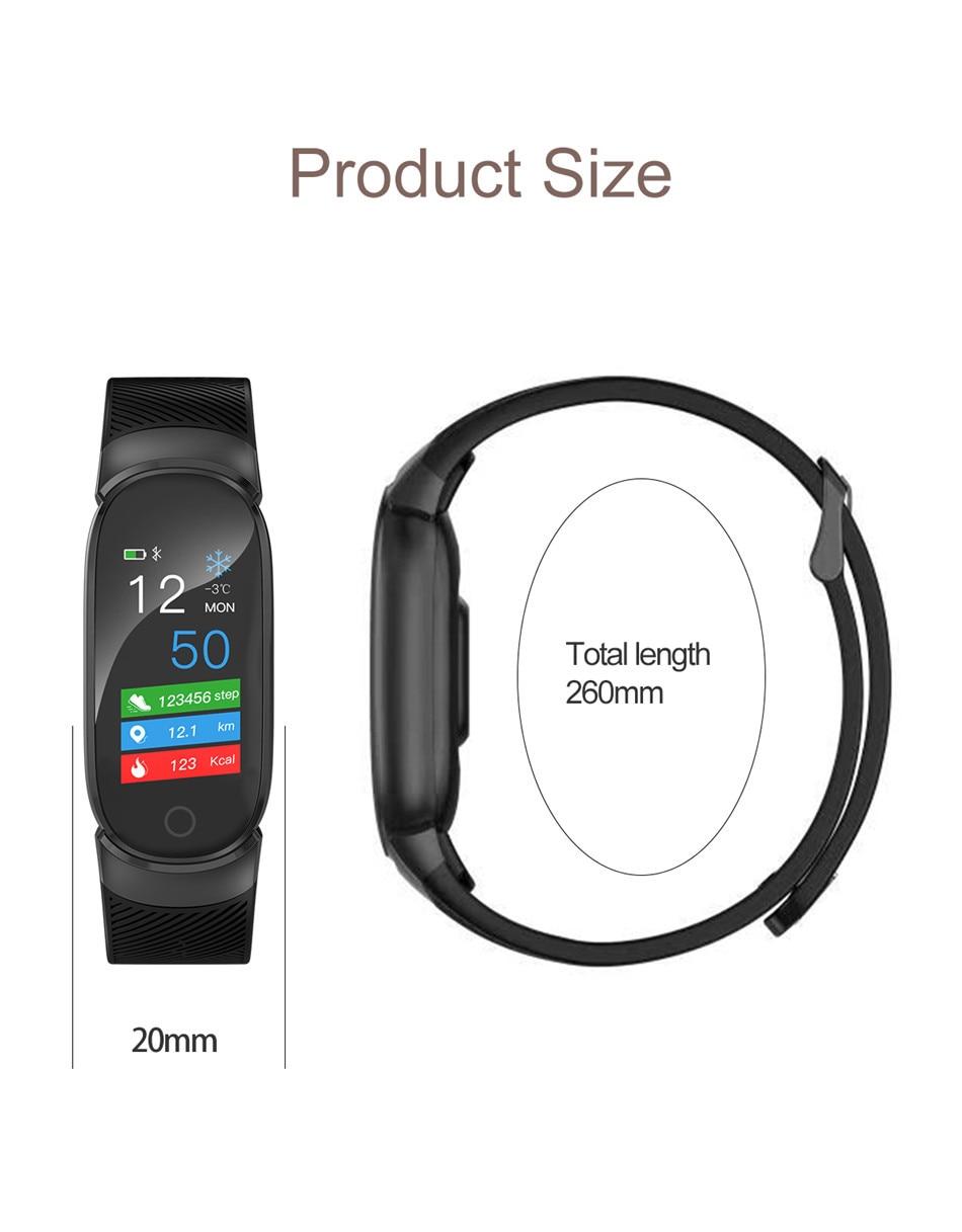 LIGE Sport Smart Bracelet Women Men Waterproof Smart Watch Heart Rate Blood Pressure Pedometer Smart Wristband For Android iOS