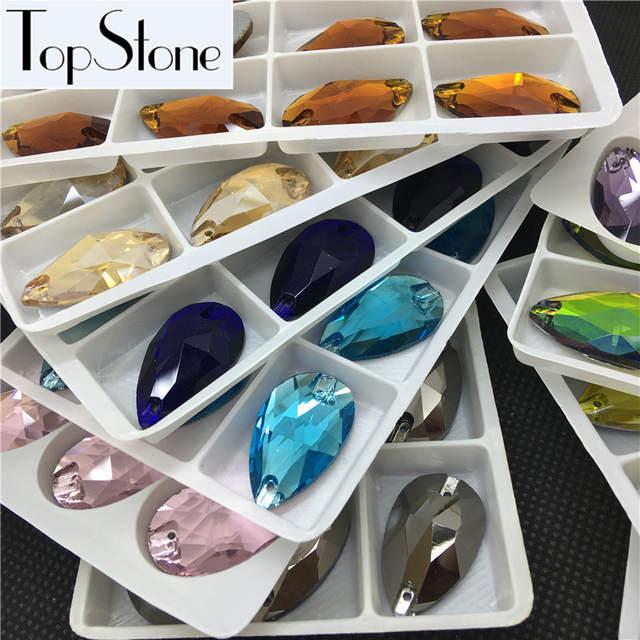 Online Shop Teardrop Glass Crystal Sew on Rhinestone  7x12 06f74cf91ecc