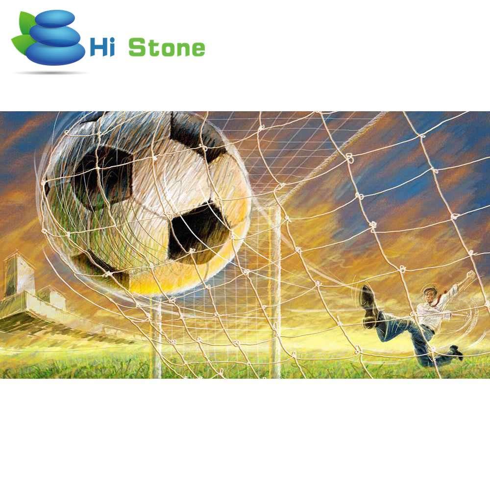 Привет камень полный квадрат дрель 5D DIY алмазной живописи Футбол 3D Вышивка крестом Мозаика горный хрусталь Home Decor подарок