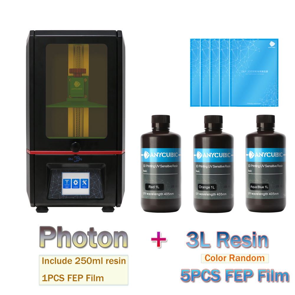 ANYCUBIC 3D Printer Kit Photon 2L FEP Film Plus Size UV-LED Touch Screen SLA Uv Resin