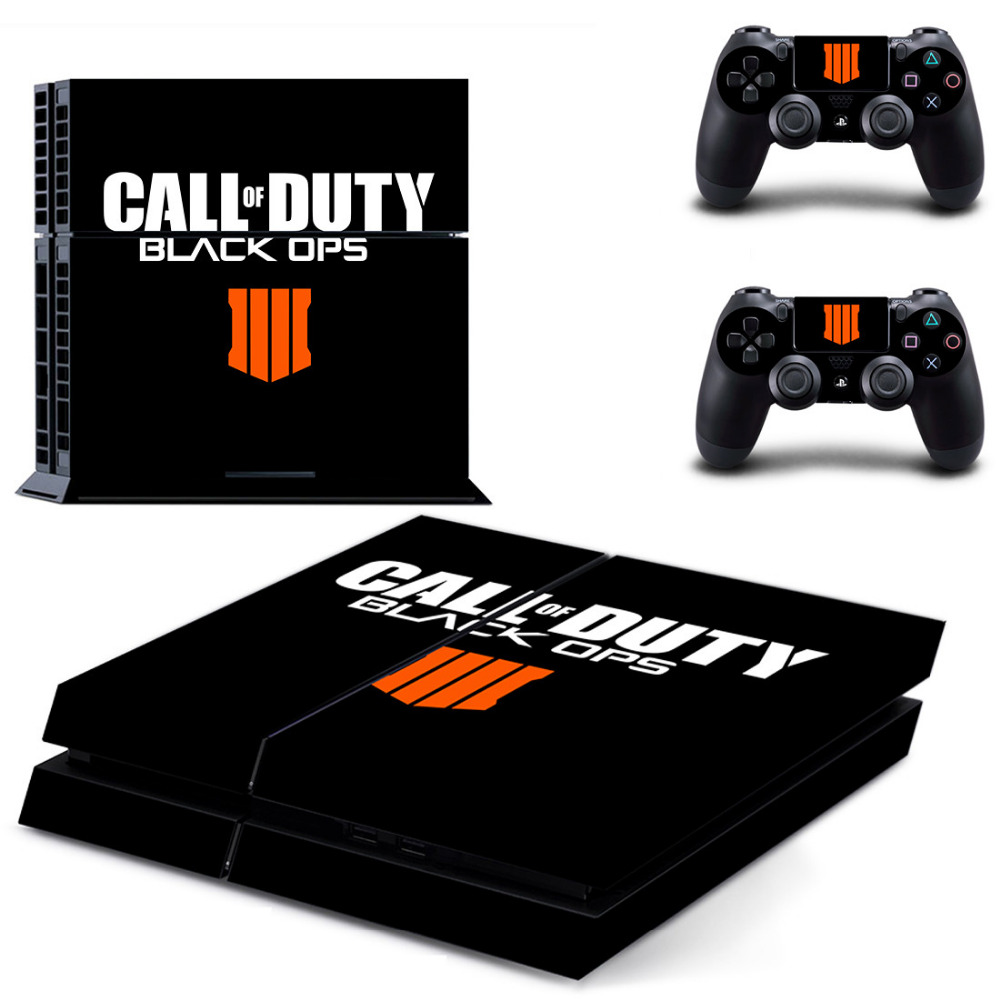 Call of Duty Black OPS 3 PS4 Skin Sticker Decal for Sony PlayStation 4 Console and 2 Controller Skin PS4 Sticker Vinyl Accessory
