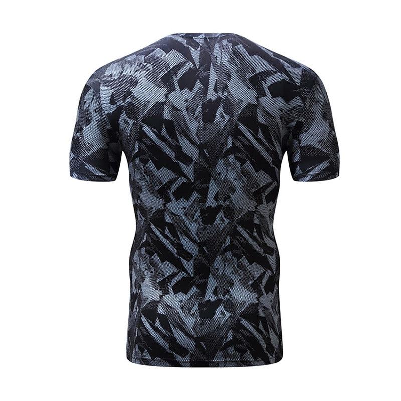 Korkealaatuinen polyesteri-3D-painetut T-paidat Miesten - Miesten vaatteet - Valokuva 2