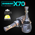 1 комплект H8 H9 H11 120 Вт 15600LM XHP-70 чипы объектива X70 Автомобильные светодиодные фары передние лампы H4 H7 9005/6 HB3/4 9012 D1S/D2S/D3S/D4S 6K