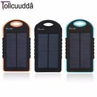 100 Original Tollcuudda DYBK02 12000MAH Portable Powerbank Ultra Thin Design Double USB Waterproof Solar Energy LED