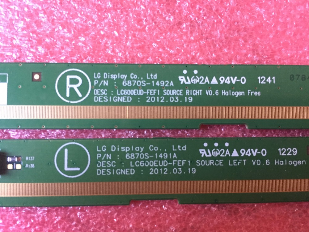 6870S-1491A 6870S-1492A LCD Panel PCB Parts A Pair s46240mb3sl4lv0 4 s46240mb3sr4lv0 4 lcd panel pcb parts a pair