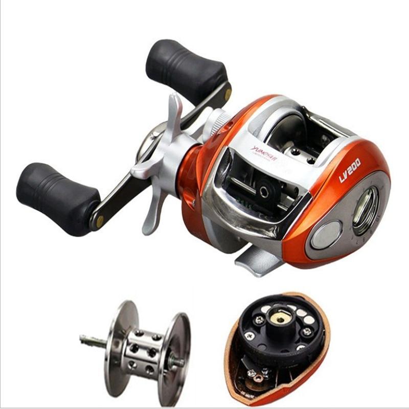 Bobina di pesca A Destra o la mano Sinistra Bait Casting 12 + 1BB 6.3: 1 Baitcasting Magnetico e Centrifuga Doppio Freno Carretilha De Pesca