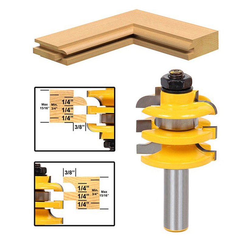 """1/2"""" Shank Rail & Stile Router Bit Ogee Stacked"""