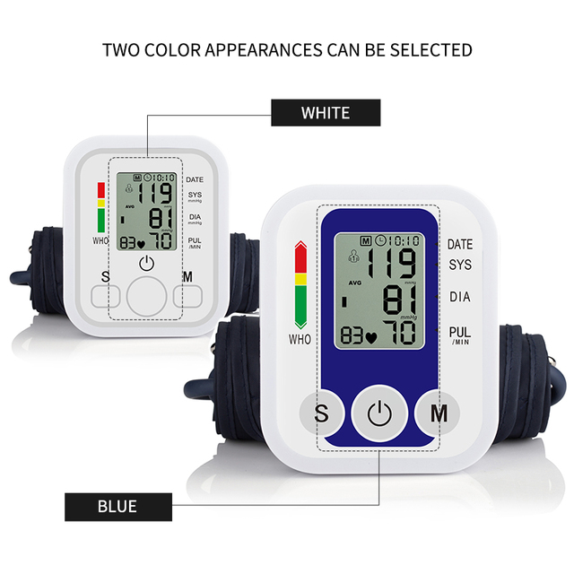 Health Care New Tensiometro Digital Blood Pressure Monitor Wrist Tonometer Automatic Sphygmomanometer BP Blood Pressure Meter 2