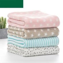 Super Soft Newborn Baby Swaddle Wrap Blankets 100*75cm Toddler Kids Boy Girl Sofa Bedding Blankets Multi-Functional Child Quilts