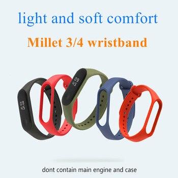 Bracelet for Xiaomi Mi Band 4 3 Sport Strap watch Silicone wrist strap For xiaomi mi band 3 4 accessories Miband 3 4 Strap 1