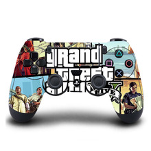 PS4 Controller Skin Grand Theft Auto PVC PS4 Sticker Cover for Sony PlayStation 4 Wireless Controller Skin Accessory