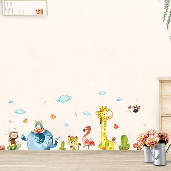 Cartoon Party cute animals Wall Stickers for home decoration kids baby rooms bedroom nursery Mural Art Decals sticker wallpaper kids wall sticker stars baby nursery bedroom wall sticker for kids room children wall decals art wallpaper home decoration
