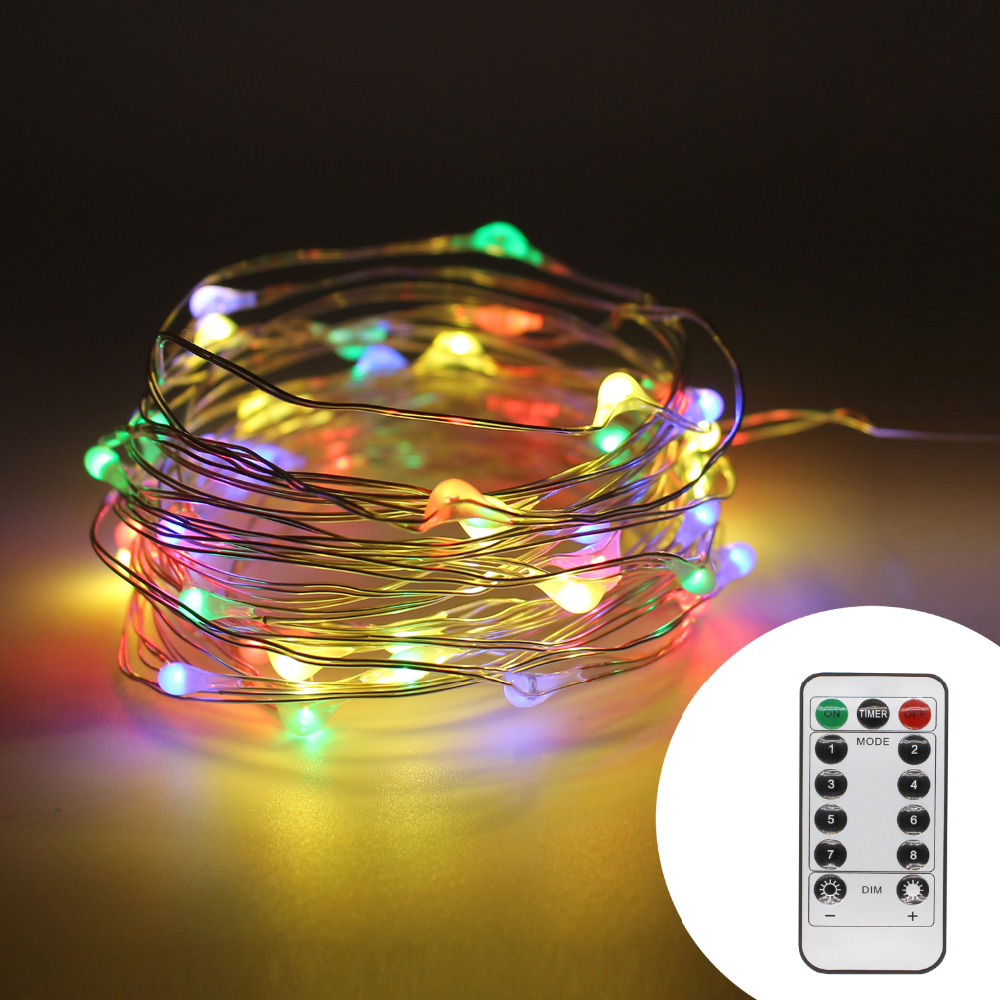10m 100 LED Kobber Wire AA Batteridrevet String Fairy Light - Ferie belysning - Bilde 2