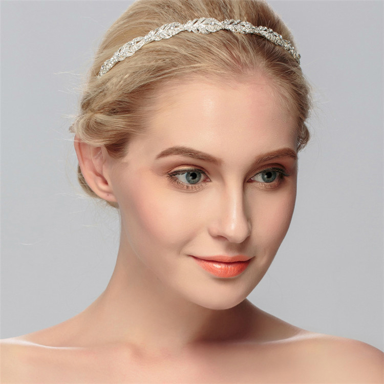 SSYFashion New Women's Headband Headwear Luxury Rhinestone Inlay Crown for Bride Wedding Jewelry Women's Hair Accessories