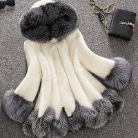 Skyesky Hot Sale New Winter Faux Mink Fur Coat Fashion Designer Faux Fox Fur Jacket And