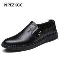 NPEZKGC Handmade Genuine Leather Men Shoes, sping autumn Business fashion Men Casual Shoes, Brand Shoes Men