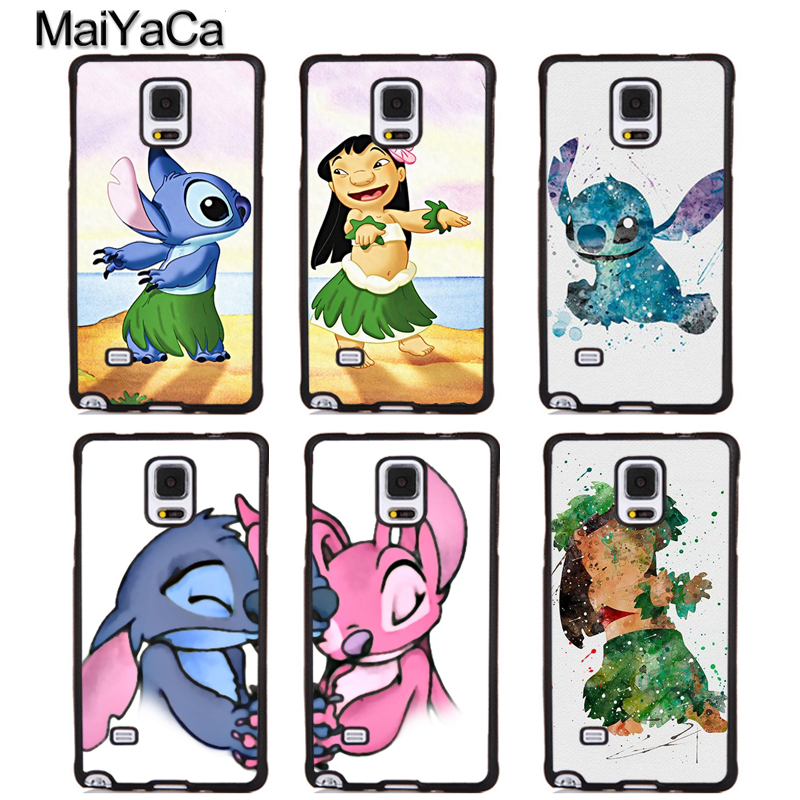 MaiYaCa LILO AND STITCH OHANA Soft Rubber Phone Cases For Samsung Galaxy S5 S6 S7 edge plus S8 S9 plus Note 5 8 Back Coque Cover