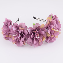 CXADDITIONS Big Peony Headband Flower Crown Hairpiece Floral Wreath Headwrap Hair Accessories Wedding Women Christmas