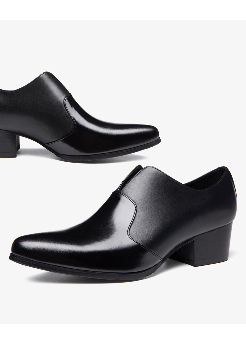 Hot!! Mens Slip On High Heel Shoes 5 CM