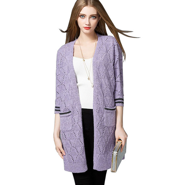 Women Cardigan Autumn Fashion European Style Sweater Women Solid ...
