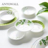 ANTOWALL бытовой Ресторан посуда круглый керамика уксус соус блюдо весело мини закуски маленькая тарелка Весна трава