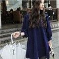 Más el tamaño T Shirt Dress XXXL camisa larga grandes xxl del otoño del resorte gran tamaño ropa para mujer Tops casuales elegantes