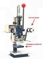 Manual Hot Foil Stamping Machine Leather Printer Creasing Machine Marking Press Machine Embossing Machine 5x7cm