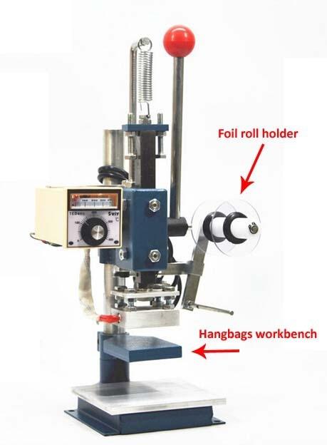 Manual Hot Foil Stamping Machine PU Leather Printer Creasing Machine Embossing Machine 5x7cm 8360 hand pressure sampling machine laser knife mold leather stamping machine manual leather mold die cutting machine