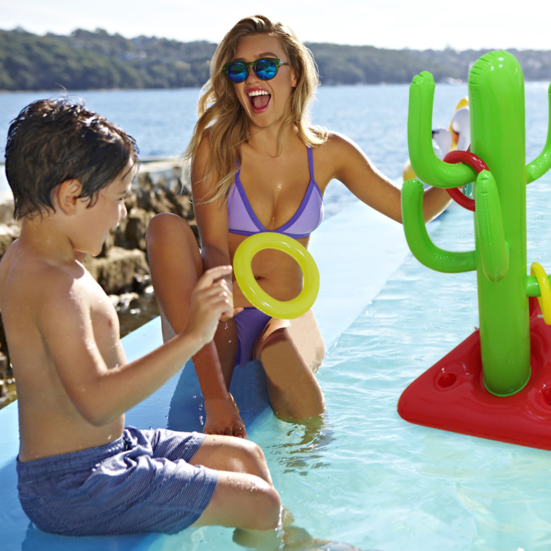 Children Outdoor Sports Funny Inflatable Cactus Toss Game Rings Kids Gifts Inflatable Water Play Pool Toys PVC Pool & Accessorie ...