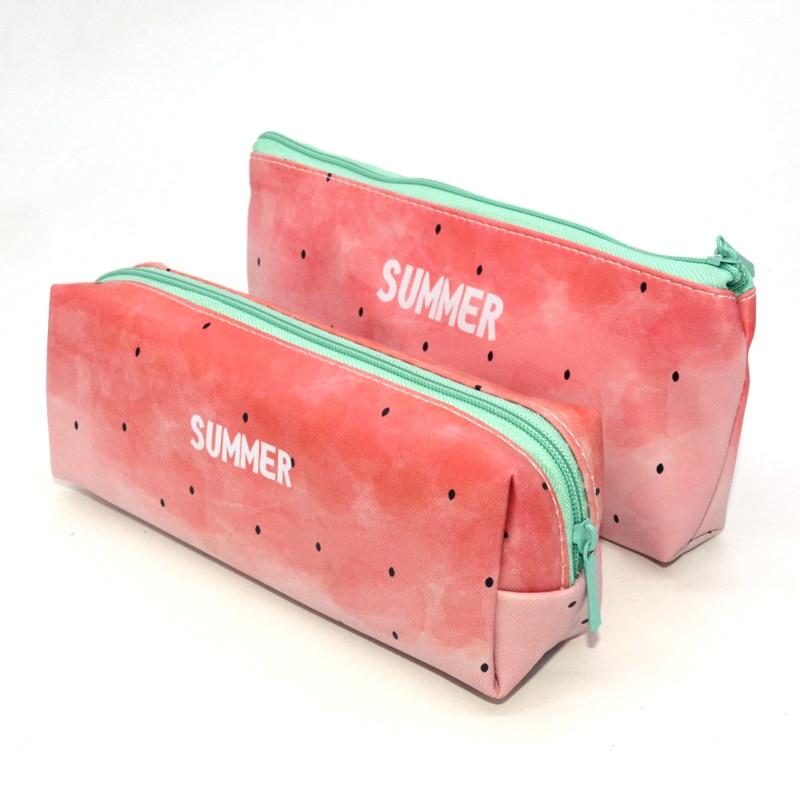 Watermelon Pencil Case PU Leather Kalem Kutusu Summer School Supplies Estuche Escolar Estojo Escola Trousse Scolaire Stylo