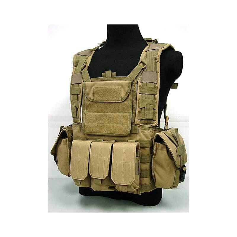 Ejército Militar De Combate Táctico Chaleco 9 Bolsillos Airsoft Correas Verde Ol
