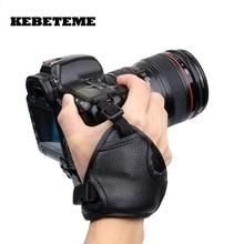 Новая ручка для камеры из искусственной кожи, Быстрый ремешок на запястье, мягкая ручка, сумка для камеры, универсальная для Canon, для Nikon, для sony Olympus, Черная