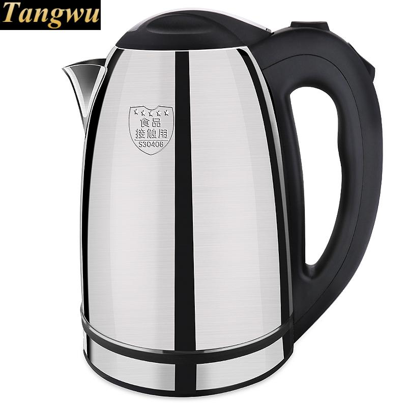 Electric kettle 304 stainless steel dormitory household cooking 3L  large capacity quick pot