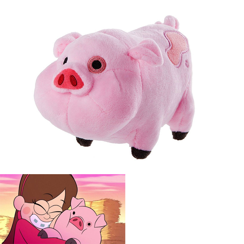 10 x Plush toys Gravity Falls Waddles Pink Pig Dipper Mabel Stuffed Animals Plush Pig Doll