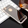 Elegante Casos de Telefone TPU Macio para Proteção de Superfície do Espelho Claro Coque tampa traseira para huawei p8 lite case for huawei p9 Lite