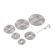 Rotary Blades Tool Cutting Discs Mandrel 7PCS For Dremel Cutoff Circular Saw Wholesale