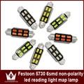 Night Lord 2pcs Nonpolarity  31mm 36mm 39mm 42mm12V 6smd 5730chip Car C5W LED Festoon Light car Interior Lights Reading Lights