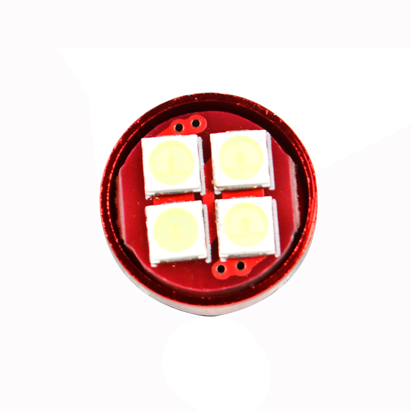 oynyo 2pcs T10 LED W5W 194 Reading Lamp 4smd 3030 4W Car LED Signal Lamp License Plate Lights White Blue Red Pink Lighting