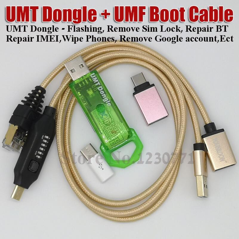 2019 nouveau umt dongle pro UMT Key + UMF tous les câbles de démarrage pour Samsung Huawei LG ZTE Alcatel logiciel réparation et déverrouillage