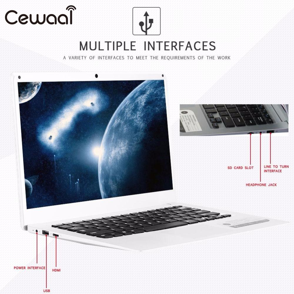 Cewaal 14 Inch 4GB RAM +64GB ROM SSD Windows 10 WIFI HDMI with Intel Atom X5-Z8350 10000mAh Battery Notebook Computer 14 inch laptop computer 4gb ram