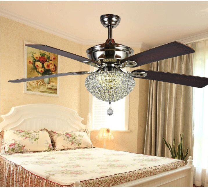 9 Stylish Tray Ceiling Ideas For Different Rooms: 52inch K9 Crystal Simple Fashion Fan Ceiling Fan Lights