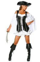 free shipping new pirate costume sexy Adult Halloween Costume deluxe costume size s 2xl