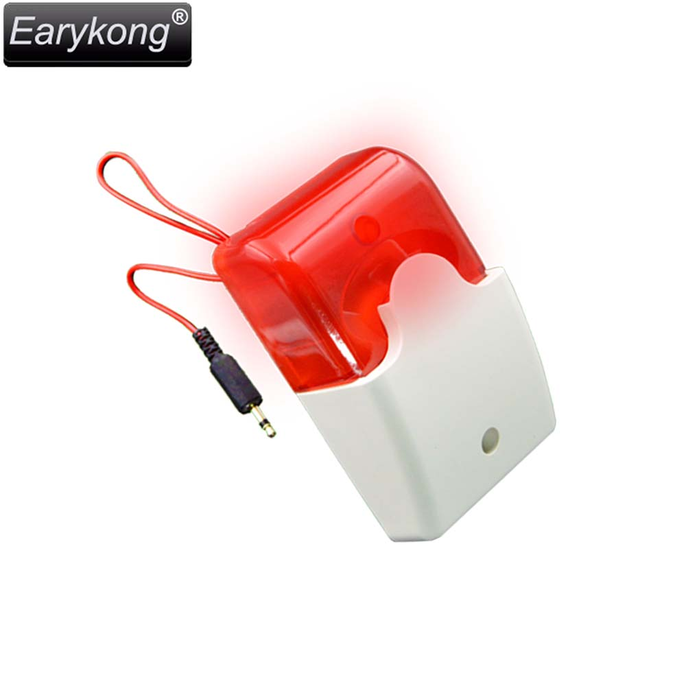 Wired Strobe Siren Work At DC 12V, For GSM / G90B / Wifi / Home Burglar Alarm System, LED Police Strobe Siren