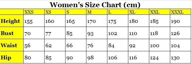 Women\'s Size Chart