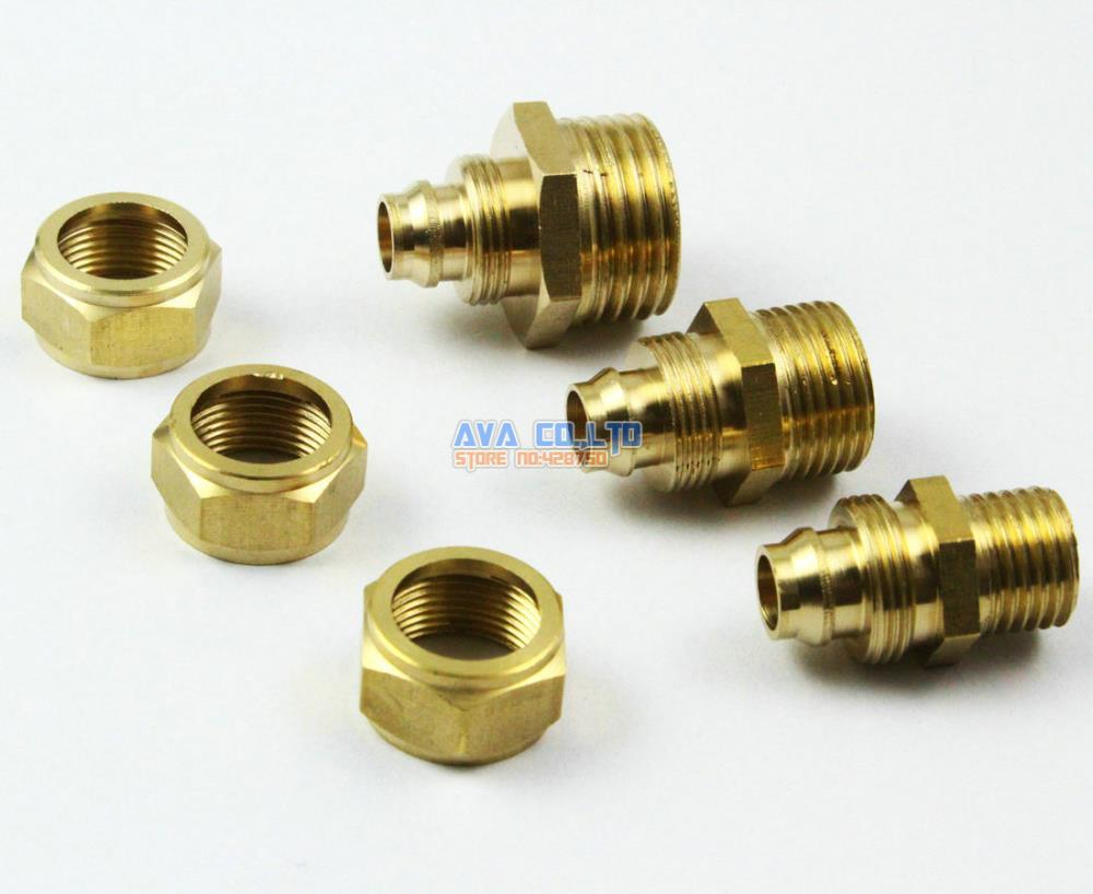 10 Pieces 12mm x 1/4 BSP Brass Straight Male Pneumatic Pipe Hose Quick Coupler Connector Coupling Fitting 10 pieces 6mm x 1 8 bsp brass straight female pneumatic pipe hose quick coupler connector coupling fitting